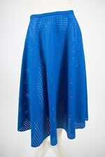 MICHAEL KORS Collection Blue Perforated Felt Circle Full Skirt - size 4 / S