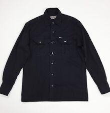 Replay jeans camicie uomo usato M shirt nero manica lunga denim vintage T4361