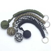 Outdoor-Affe Faust Ball Selbstverteidigung Lanyard Survival Key Ring Kette U3D1