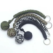 Monkey Fist Paracord Keychain Chain Keyring 550 Steel Ball Survival Outdoor NEW
