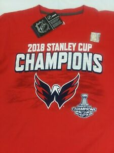 Washington Capitals 2018 Stanley Cup Champions Fanatics Branded T-Shirt Size SM
