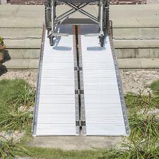 Homcom 10' Folding Portable Mobility Handicap Suitcase Wheelchair Threshold Ramp