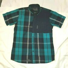 Mens Voi Cyrax Check Green/Navy  Shirt Long Size M 39/41