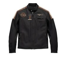 Harley-Davidson Men's Gorgan Leather Jacket Gr. 3XL - Schwarz Herren Leder Jacke