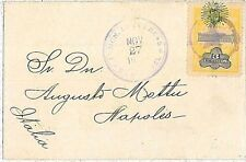 NICARAGUA -  POSTAL HISTORY - COVER to ITALY -  MUTE CANCELLATION: STAR!