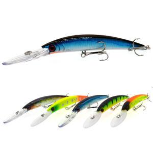 5PCS fishing Fish Big Minnow Crankbait hook Plastic lure baits 16g/15cm