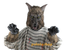 Halloween Gloves Wolfmen Hands Adult Costumes Wolf Claws Werewolf Dress Scary