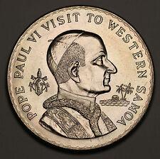 1970 Samoa Tala $1 KM# 10 Visit of Pope Paul VI BU Coin Full Luster 35k Minted