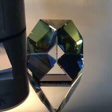 Swarovski Crystal Octron Paperweight, Sahara! Nib 7456 041 Swan Logo! Erv: $960