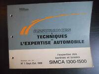 Assurances et techniques de l'expertise automobile n°1 09/1966 Simca 1300-1500