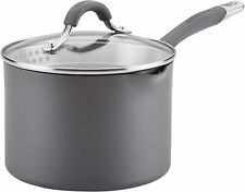 Circulon Radiance Hard Anodized Nonstick Sauce Pan/Saucepan with Straining and L