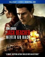 Jack Reacher Never Go Back (BLU-RAY) DISC ONLY NO CASE NO COVER ART EXCELLENT