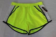 NEW Womens Shorts Size Medium Athletic Yellow Workout Walking Running Gym Pocket