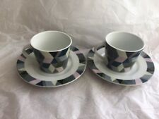 Portmeirion Studio - Espresso Cup & Saucer Set - Geometric Pattern - New Unused