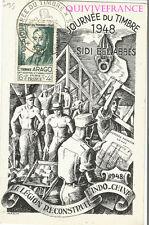 CPL135 - JOURNEE DU TIMBRE 1948 - SIDI-BEL-ABBES -  LEGION ETRANGERE