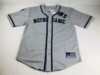 Adidas Team Men's NCAA Notre Dame Fighting Irish Baseball Jersey Size Large NOS