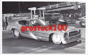 5 DIFFERENT MUSTANG FUNNY CAR'S  BLACK & WHITE PHOTO'S