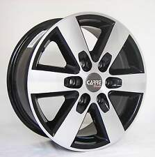 "16"" MERCEDES SPRINTER 6 STUD BLACK ALLOY WHEELS 6x130 (06>ONWARDS)"