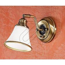 Wandleuchte Lampe Altmessing Landhaus mediterran mit Schalter