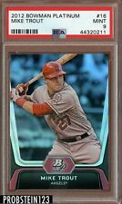 2012 Bowman Platinum #16 Mike Trout Angels RC Rookie PSA 9 MINT