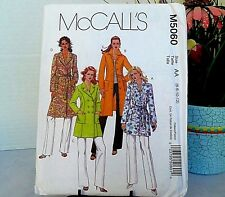 McCalls 5060 Misses JACKET COAT Sewing Pattern New Uncut Factory Fold Size 6-12