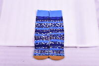 Men's Stance B Grade Floral Striped Dress Crew Socks- Blue - (L)