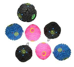 Pets Cats Dogs Assorted Colour Plastic Noisy Fetch Teething Toys 10cm 2 PCS