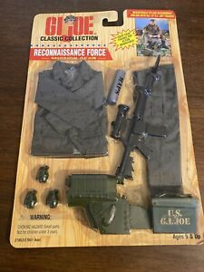 "GI Joe Hasbro 1996 12"" Classic Collection Reconnaissance Force Mission Gear Set"