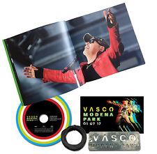 VASCO ROSSI VASCO MODENA PARK CD+TARGHETTA METALLICA+POSTER+ADESIVO+BOOKLET FOTO