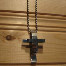 Cross stainless steel fashion biker pendant & necklace