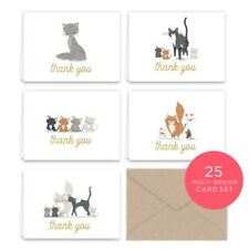 Paper Frenzy Kittens and Kitty Cats Thank You Note Card Collection 25 pack