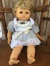 GOTZ PUPPE doll Blonde Brown Eyes Close Open Vtg