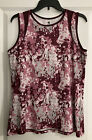 Noble Equestrian Lily Tank Top- Large (US 12-14)- Fig/Pink Floral Camo