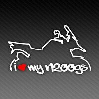 BMW R1200GS K50 Love Silhouette Motorrad Aufkleber Sticker 15x8cm