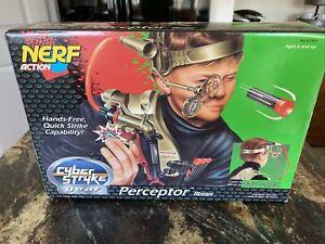 1996 NERF Perceptor Dart Blaster Kenner Hasbro Cyber Strike Gear, Mint, CIB RARE