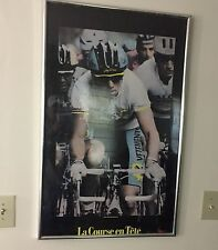 VINTAGE GREG LEMOND POSTER 1990 TOUR DE FRANCE RARE 36x24 CYCLIST FRAMED 90s