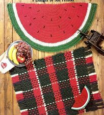 Leisure Arts/Quick Crochet Throw Rugs/Crochet Pattern Instructions Only