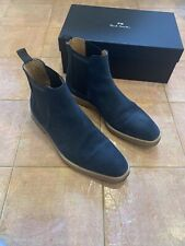 Paul Smith Andy Blue Suede Common Chelsea Boot with Crepe Soles size 42 USA 9.5