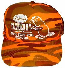 Richard's Taxidermy Stuff Beaver Camouflage Camo Mesh Trucker Hat Cap Snapback O