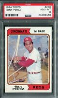 1974 Topps #230 Tony Perez PSA 8 NM-MT