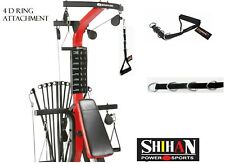 4 D Single STIRRUP handle  Strap 4-RING  Gym Cable Machine Attachment TOP GYM