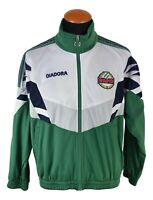 Diadora Rapid Training Jacke Vintage Gr. M Grun Waiss Polyester OO21