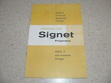 Original Kodak Kodaslide Signet Model 2 Slide Projector Owner's Manual~VG Cond.
