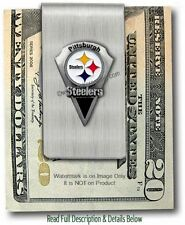 PITTSBURGH STEELERS STAINLESS STEEL MONEY CLIP NFL FOOTBALL SALE - FREE SHIP #A