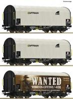Roco 76054 HO Gauge Captrain Shimmns Tarpaulin Wagon Set (3) VI