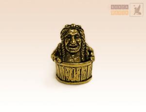 """Baba Yaga"" Souvenir Сollectable Thimble Figure Statue BronZamania B830"