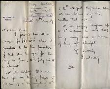 1909 PERTH- ROYAL GEORGE HOTEL Letter from Maloney to Oliver