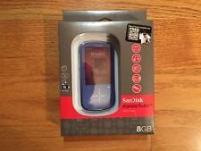 SanDisk Sansa Fuze+ 8GB MP3 Player w/ MicroSDHC Card Slot (Blue) - New