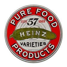 Pure Food Products Heinz 57 Varieties Reproduction Circle Aluminum Sign