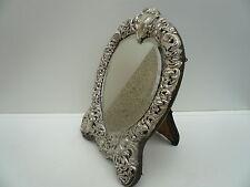 Silver Mirror, Sterling, Antique, English, Cherub Decoration,Hallmarked 1896
